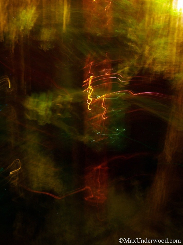 Sidewalk, abstract light patterns, bright, colorful, motion. Abstract portrait photography, Santa Fe, NM.