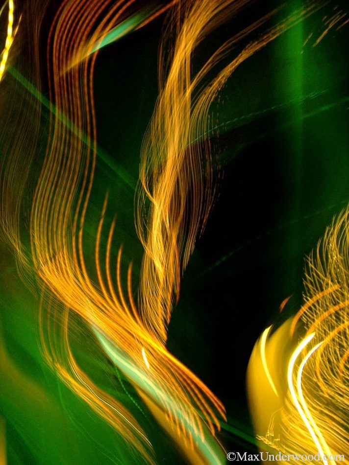 Abstract light patterns, bright, colorful, sweeping motion. Abstract photography, Santa Fe, NM.