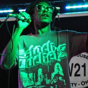 Z-Man in Concert, at Warehouse 21, Santa Fe. Live hip-hop photography portraits.