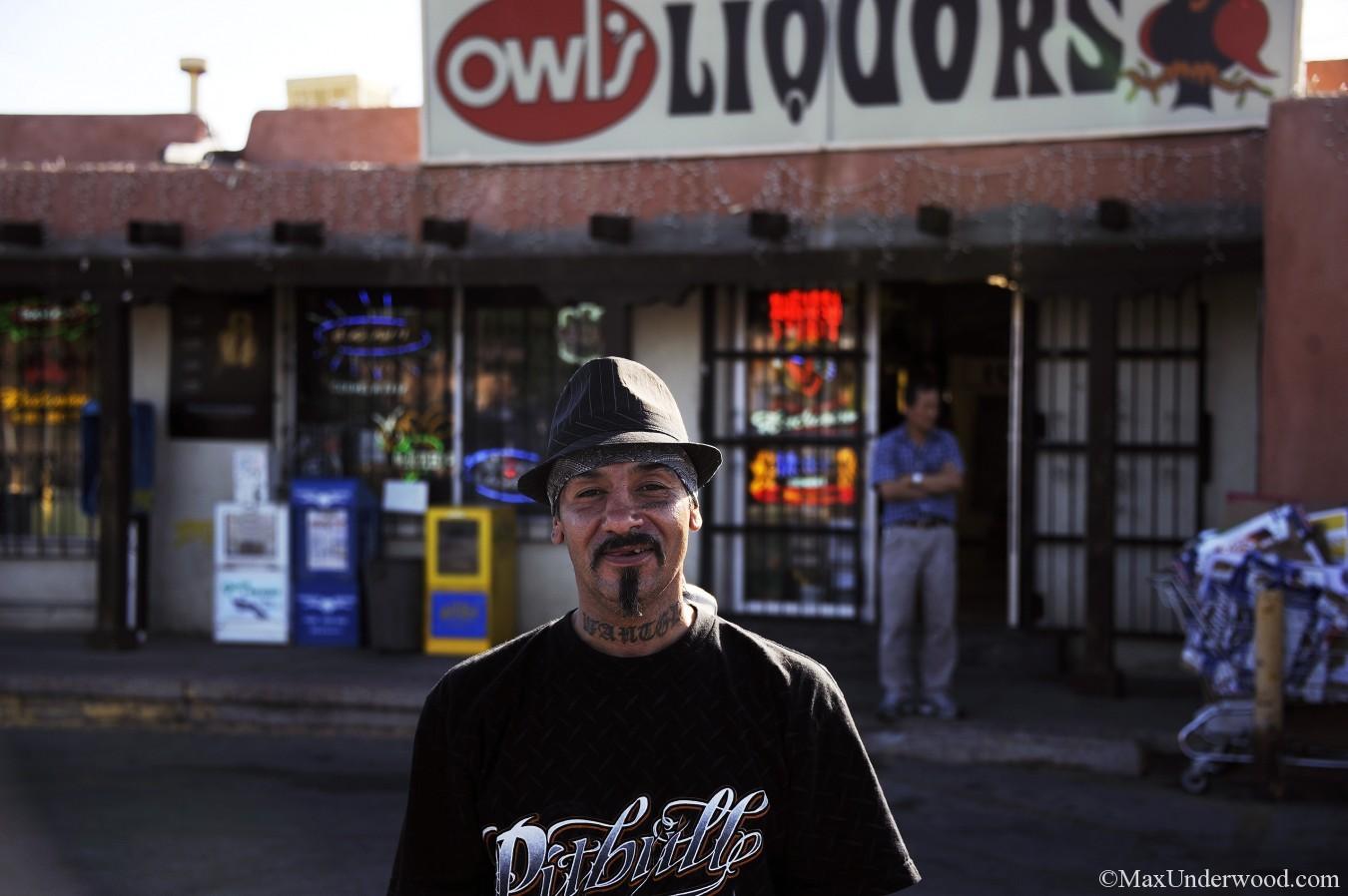 Owl's Liquors portrait, Santa Fe, NM.