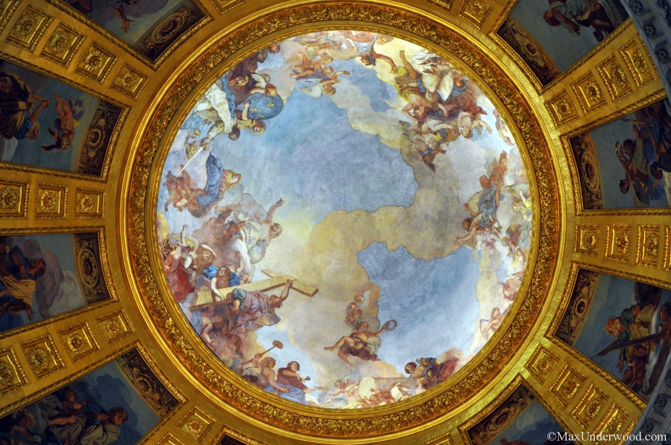 Dome des Invalides, Paris, France, Dome Fresco Painting