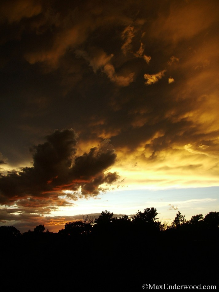 Sunset at El Dorado stables, Santa Fe, New Mexico. Southwest landscapes.