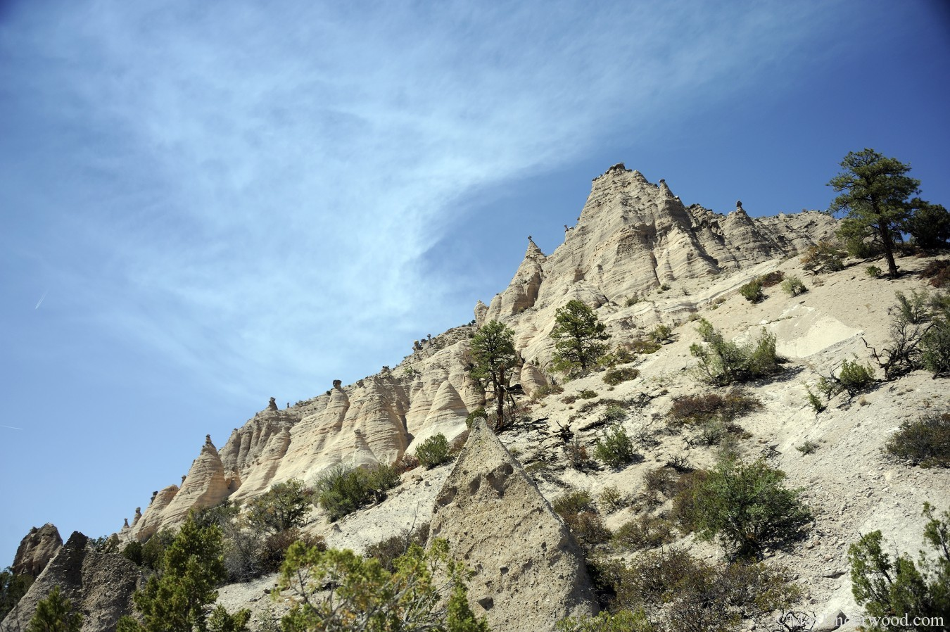 Tent Rocks National Monument, New Mexico landscapes, blue sky, historical. Southwest photography.