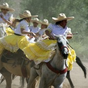Charreada, Mexican Rodeo, Viva Mexico! at Las Golindrinas, female horseriding, New Mexico