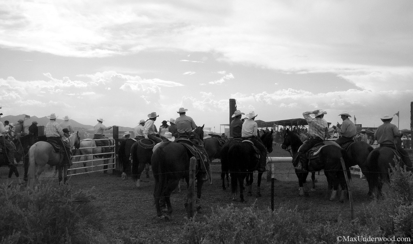 Rodeo de Galisteo, cowboys, black and white photography, NM