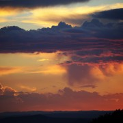 Southwest sunset, cloud landscapes, deep colors, dramatic