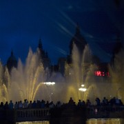 Barcelona Magic Fountain of Montjuïc, Catalonia, Spain, Palau Nacional