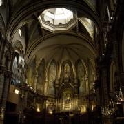 Santa Maria de Montserrat Abbey interior, Benedictine monastery, Catalonia, Spain