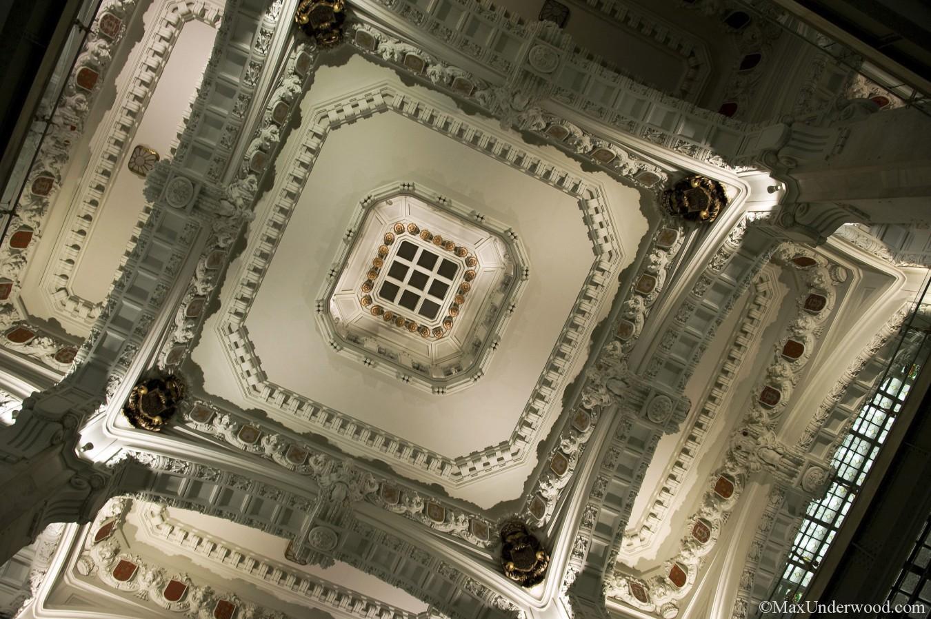Ceiling of Plaza de Cibeles, Madrid Spain, Palacio de Comunicaciones