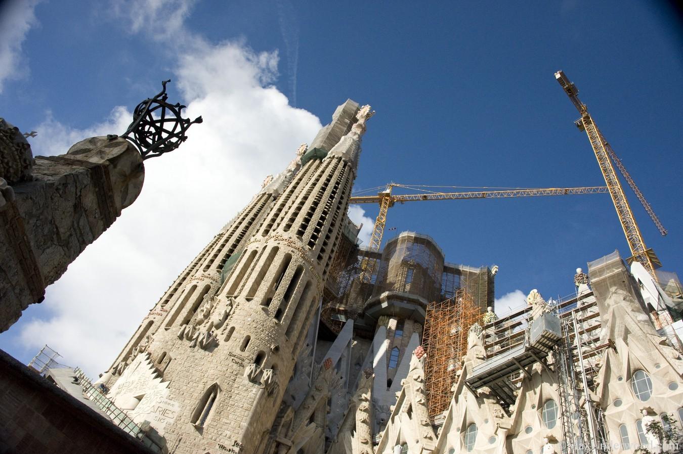 Basílica de la Sagrada-Familia,Gaudi,Barcelona, Spain. Under construction