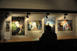 Prints by Max Underwood in the New Mexico Hard Cider Bar, Santa Fe, NM